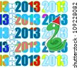 Happy new year 2013,year of the snake - stock vector