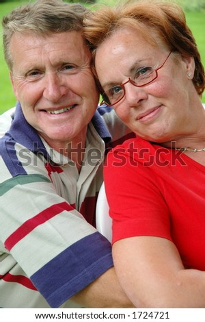 Happy older couple - stock photo