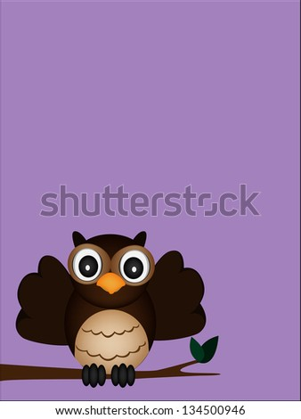 happy owl of the night - stock photo