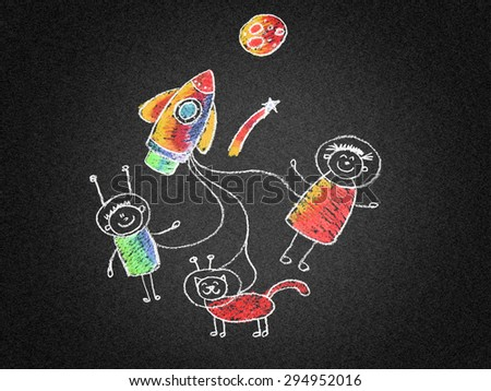 Happy people, kids, and parents - stock photo