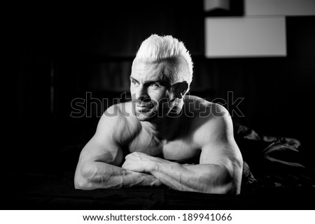 Happy playful young man  - stock photo