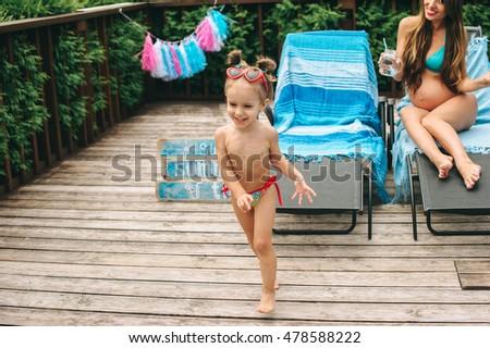 Beautiful Woman Hat Near Swim Pool Stock Photo 93851326 Shutterstock