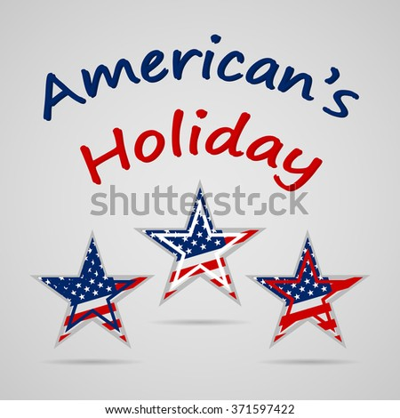 Happy Presidents Day celebration with United State of American flag  on stars - stock photo