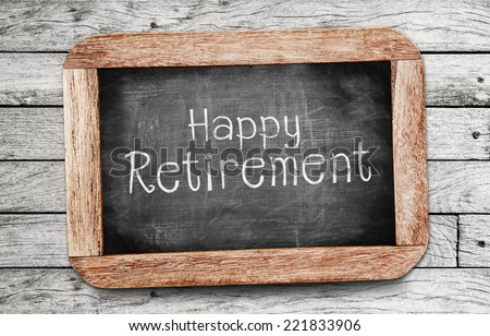 Happy Retirement - stock photo