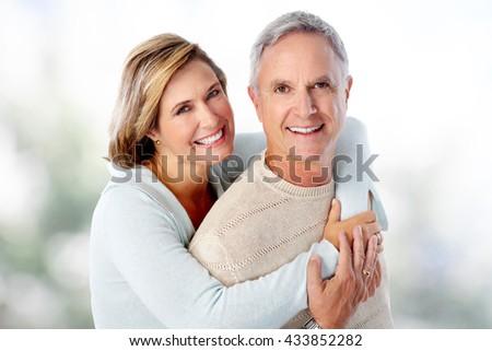 Happy senior couple in love. - stock photo