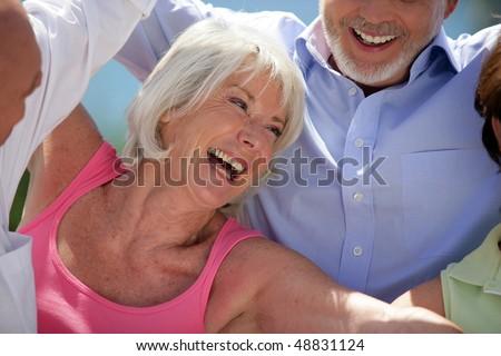 Happy senior woman - stock photo