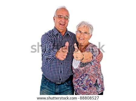 Happy seniors couple - stock photo