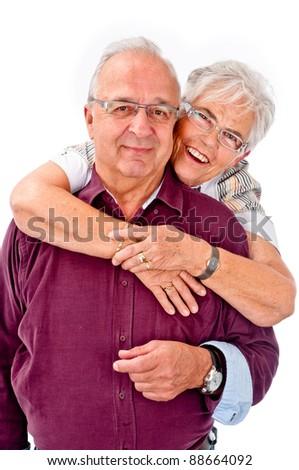 Happy seniors couple in love - stock photo