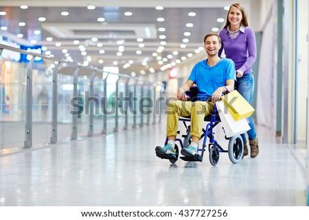 Happy shoppers - stock photo