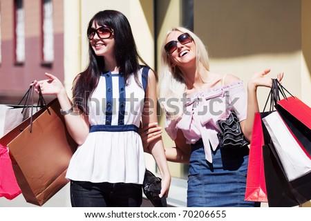 Happy shopping - stock photo