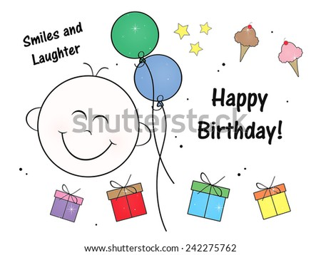 Happy Smile - Birthday - stock photo