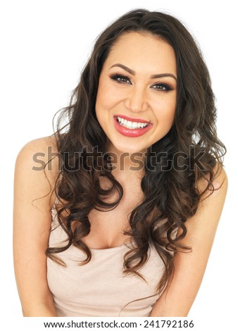 Happy Smiling Attractive Young Woman