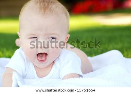 Happy, Smiling Baby - stock photo