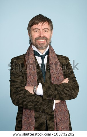 Happy smiling middle aged man. - stock photo