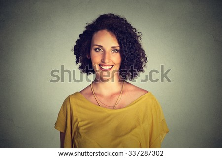 Happy smiling woman   - stock photo