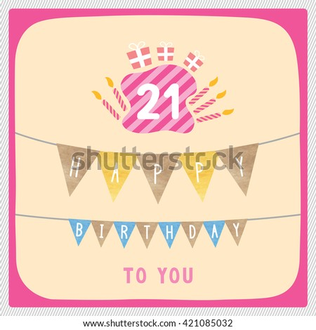 21st Birthday Stock Images RoyaltyFree Images Vectors