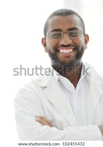 Happy successful African man - stock photo