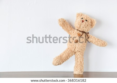 Happy teddy bear - stock photo