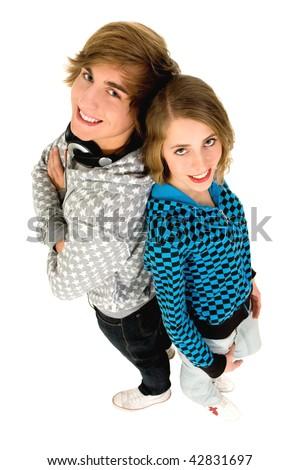 Happy teenagers - stock photo
