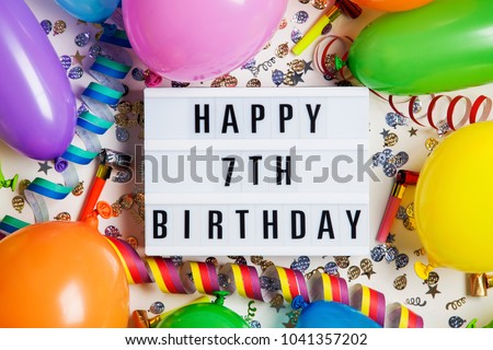 7th Birthday Stock Images, Royalty-Free Images & Vectors ...
