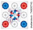 Happy 4th July greeting card - stock photo