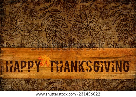 Happy Thanksgiving Background  - stock photo