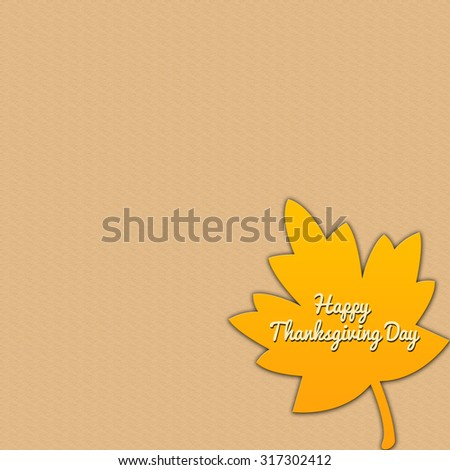 Happy thanksgiving day illustration with leaves and text space - stock photo