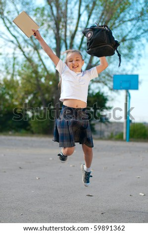 Happy to be in school - stock photo