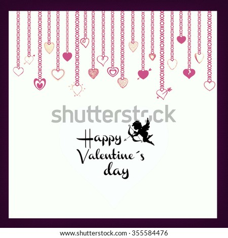 Happy Valentine card - stock photo