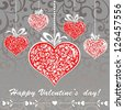 Happy Valentine's day! Celebration background with hearts and place for your text. Illustration - stock vector