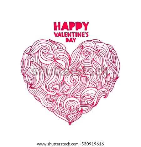 Simple Blank Pink Heart Valentines Day Stock Vector 542662990 ...