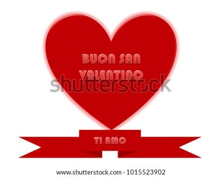 Happy valentines greetings italian stock illustration 1015523902 happy valentines greetings in italian m4hsunfo