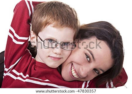 happy woman and Kid