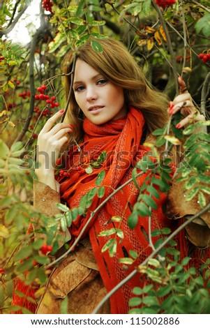 Happy woman, fashion portrait - stock photo