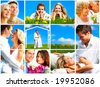 Happy young and elderly couples  in love. - stock photo