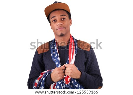 Happy young Black man isolated - stock photo