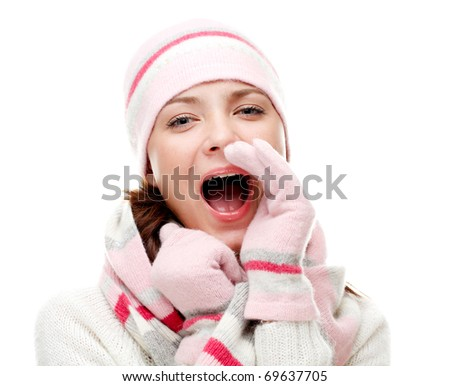 Happy young woman. - stock photo
