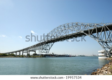 Harbor bridge in Corpus Christi, Texas USA - stock photo