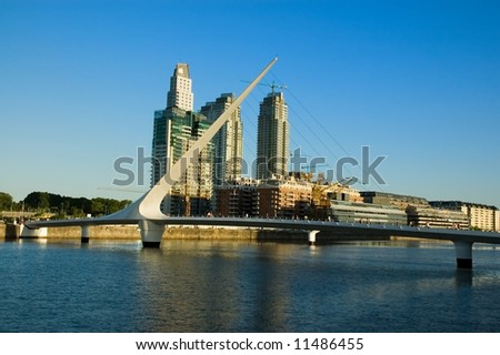 Harbor in Puerto Madero, Buenos Aires, Argentina. - stock photo