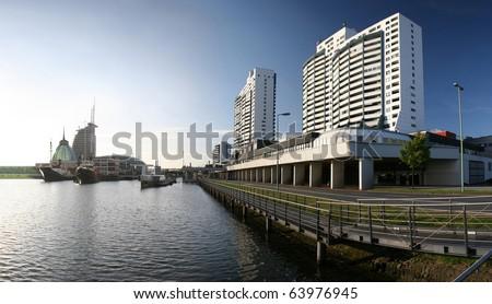 Harbor of Bremerhaven, Germany - stock photo