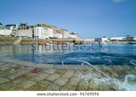 harbor of douarnenez in brittany in france