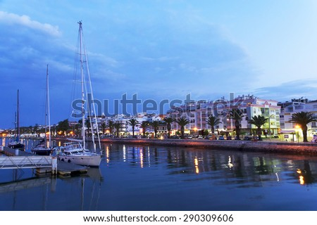 Harbor of Lagos, Algarve, Portugal - stock photo