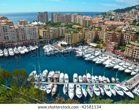 Harbor of Monte Carlo - Monaco - stock photo