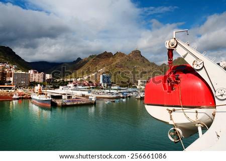 Harbor of Santa Cruz de Tenerife, Canary Islands, Spain - stock photo