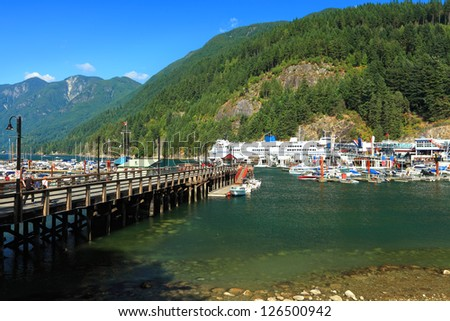 Harbor of Vancouver Island, British Columbia,Canada - stock photo