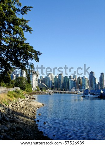Harbor View in Vancouver, Canada - stock photo