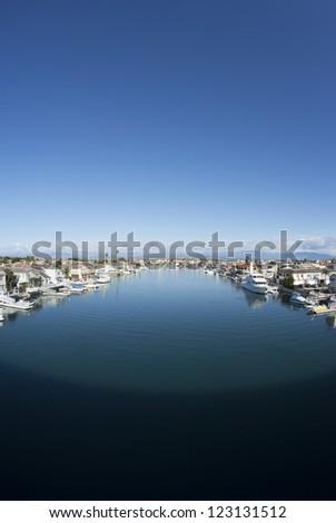 Harbor Wide Angle - stock photo
