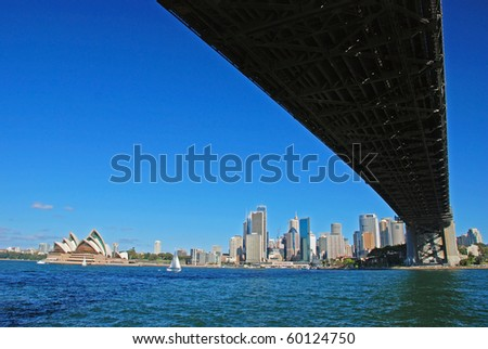 Harbour bridge, Sydney, Australia - stock photo