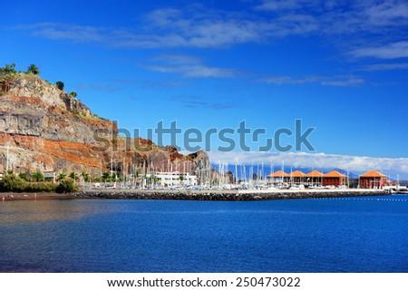 Harbour of San Sebastian de la Gomera, Canary Islands, Spain - stock photo
