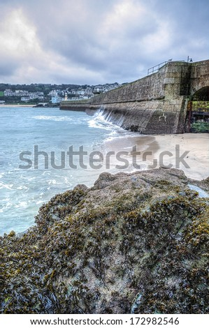 Harbour st ives - stock photo